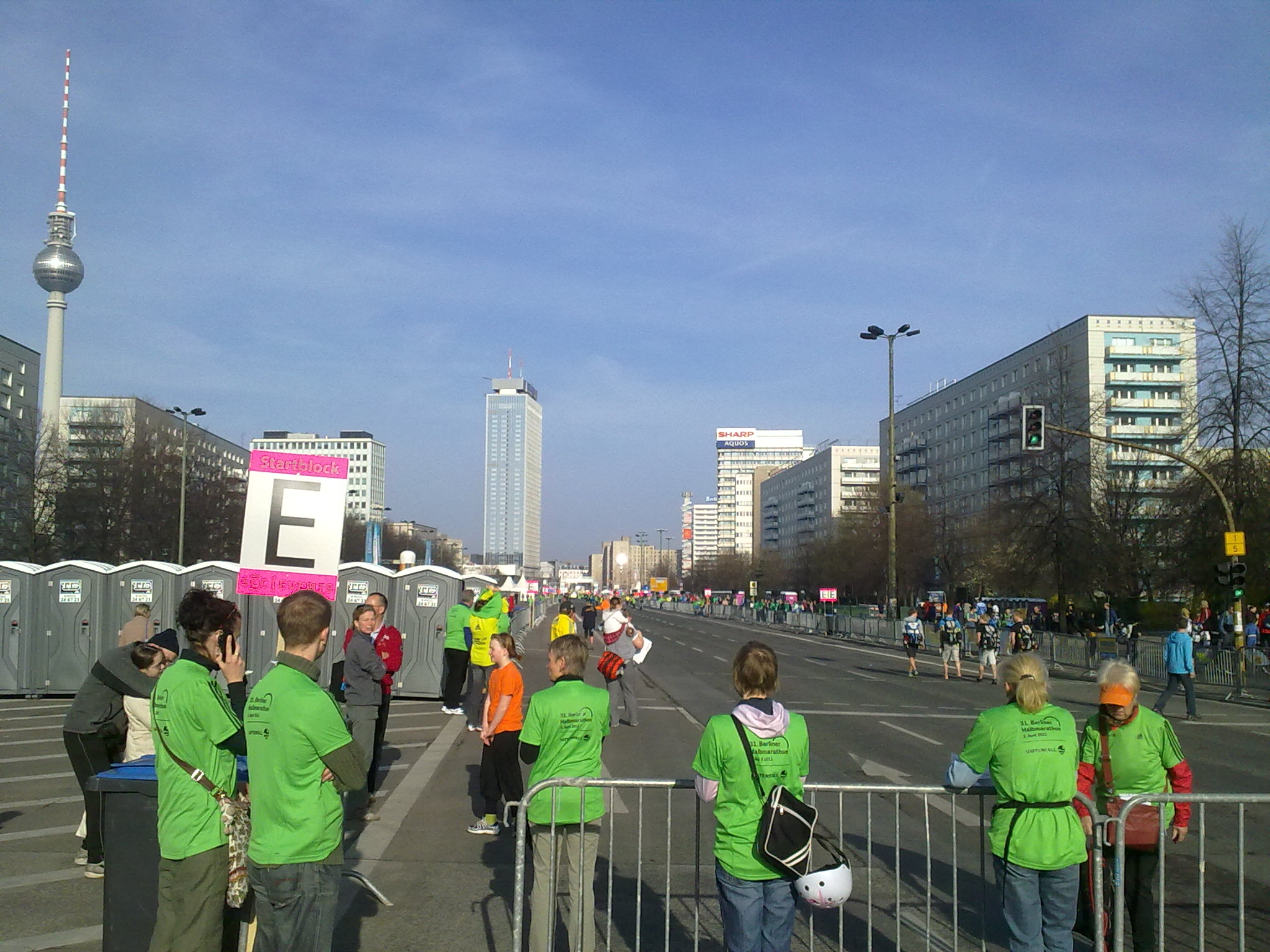 Berlin Halbmarathon Start